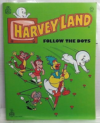 HARVEYLAND UNUSED follow THE Dots BOOK Casper WENDY cartoons COLORING rare