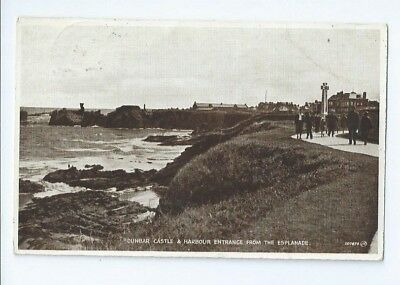 Postcard Dunbar Harbour 1933 Photo Brown East Lothian