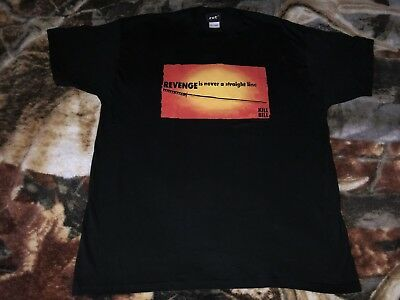 Vintage KILL BILL T Shirt Black 2XL 2003 Tarantino Kung Fu Movie NOS Tee W:25""