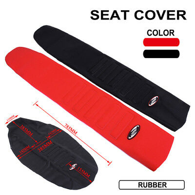 Universal Motorcycle Soft Rubber Seat Cover for Dirt Bike Off Road Motocross