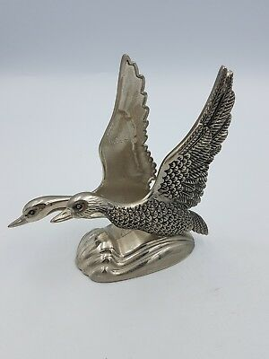 Vintage Silea Silver Plated Flying Duck Swan?  Letter Napkin Holder Rack