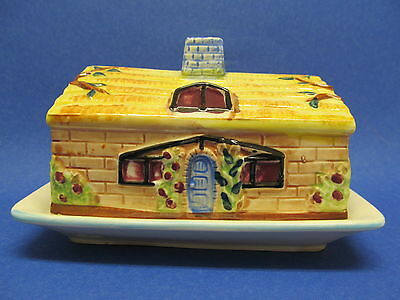 Vintage 1950's Japan Cottage Ware House  COVERED BUTTER or CHEESE DISH