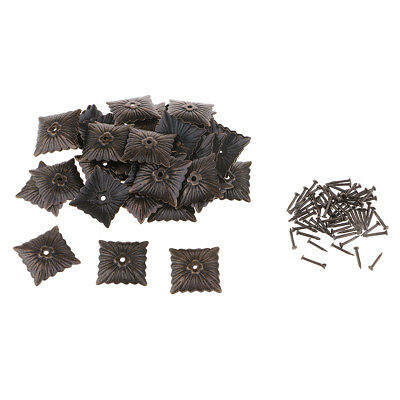 50x Square Upholstery Nails Studs Tacks Pins Furniture Sofa Door Decoration