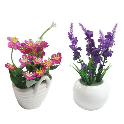 Artificial Silk Flower with Ceramic Pot Plant Bonsai Party Wedding Home Deco