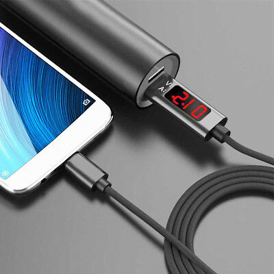 Durable Voltage Current Display Type-C/Micro USB Fast Charging Cable For Samsung