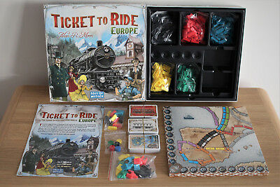 Ticket to Ride Europe Board Game - Days of Wonder - Contents New & Sealed