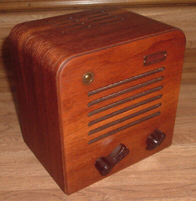 Vintage Executone Electronic Intercom Tube Amplifier Wood Speaker Sys Old Amp