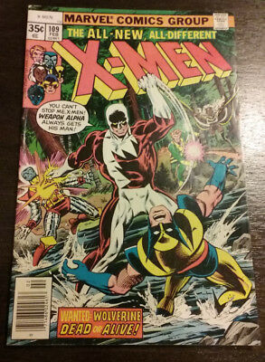 Uncanny X-Men #109 1st Appearance of Weapon Alpha Feb 1978