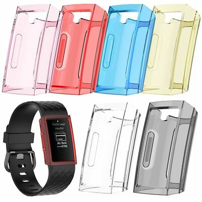 Soft TPU Protector Shell Protective Frame Case For Fitbit Charge 3 Smart Watch