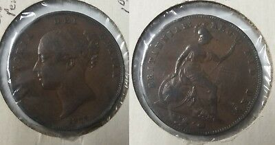 Great Britain 1854 Large 1 Penny  queen Victoria