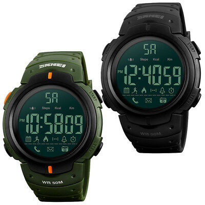 Waterproof Bluetooth Digital Sports Wrist Watch Pedometer Calorie Smart Watch