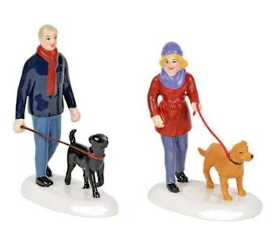 "NIB Dept 56 ""Taking the Girls For a Walk Set of 2 Village Accessories 6001690"