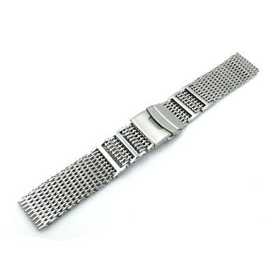Replacement Watch Band Strap Stainless Steel Bracelet Mesh Double Locking Clasp