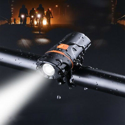 Durable Bike Bicycle Headlight Front/Tail Light LED Flashlight IPX6 Waterproof