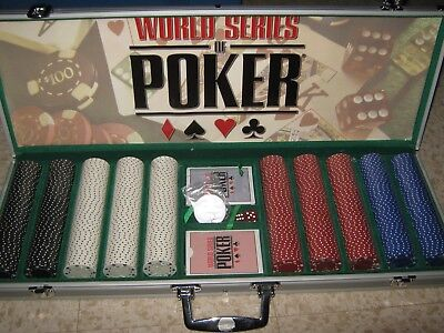 WSOP Professional 500 piece Chip Set Aluminum Case World Series of Poker
