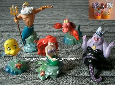 New Full Set The Little Mermaid Tiny! 5 Figures Disney Choco Egg Toy Dollhouse