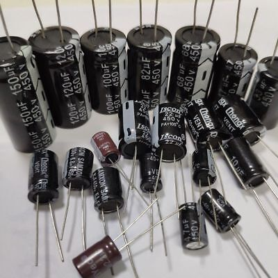 14Values 450V (2.2uF~150uF) 33pcs Aluminum Electrolytic Capacitor Kit Set