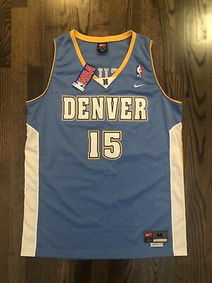 low cost bac27 b0bfd NWT NIKE CARMELO ANTHONY #15 Denver Nuggets Jersey Size Medium 40 M MELO