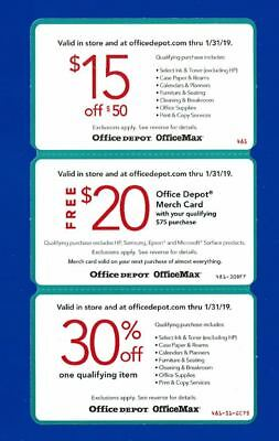 OFFICE DEPOT/OFFICE MAX Coupons - $8 50 | PicClick