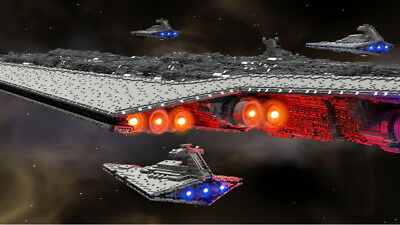 LEGO Star Wars 71,000-piece, 13-foot-long Super Star Destroyer (LDD/LDRAW File)