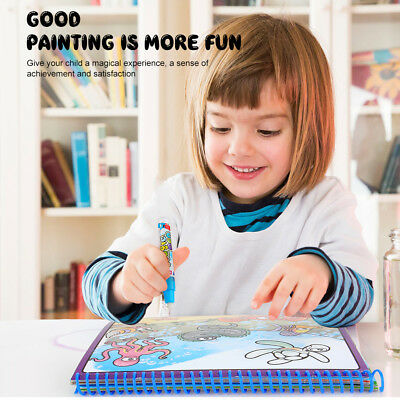 Education Magic Doodle Coloring Pamphlet Painting Board Water Drawing Book ~