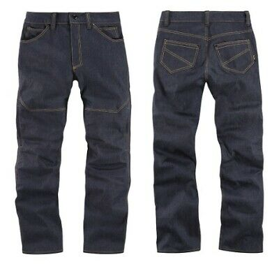 Icon Racing Adult Cordura Motorcycle Riding Pants Akromont Blue Size 28-44