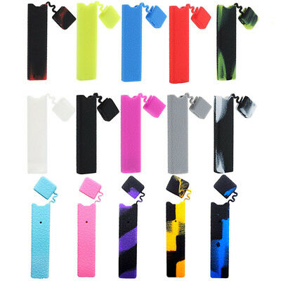 Juul00 Silicone Anti-Slip Cap Grip Skin Cover Wrap Protective Case