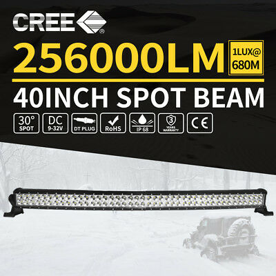 40inch CREE Curved LED Light Bar Spot Beam Dual Rows Work Driving 4WD Truck SUV