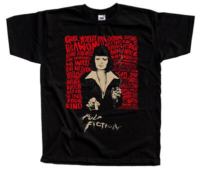 Pulp Fiction V13, movie poster, Quentin Tarantino T-SHIRT BLACK all sizes S-5XL