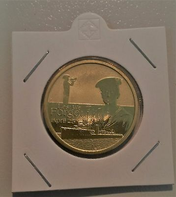 2010 ANZAC DAY LEST WE FORGET APRIL 25th $1 Coin Australia 2 x 2 Coin Holder