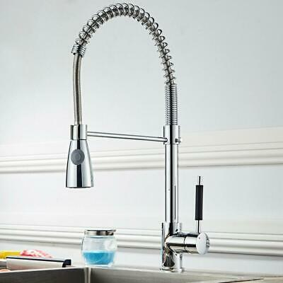 Kitchen Pull Down Sprayer Faucet Swivel Spout Single Hole Sink Mixer Tap New US