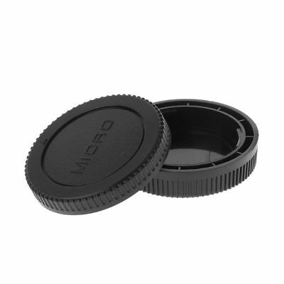 Front Rear Lens Caps Replacement Camera Lens Cover For Olympus M4/3 Body  HOT