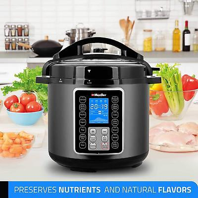Mueller Ultrapot 10-In-1 Pro Series 6Q Pressure Cooker With German Thermav Tech,