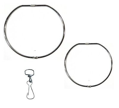 Jailers Large  Keyring Hinged Key Ring 100mm & 150mm + Swivel Clip