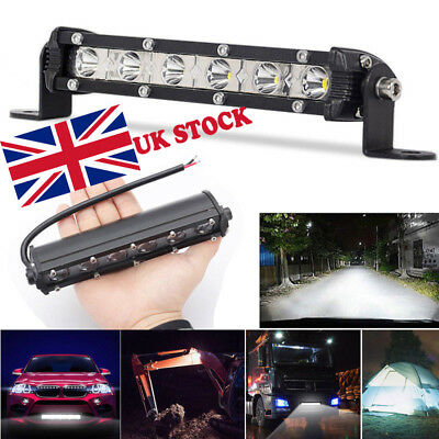 8'' 60W Spot WOW-LED Work Lights Offroad Driving Car Boat Bar Fog Light SUV UK