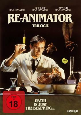 Re-Animator Part 1 2 3 Trilogy Bride of beyond 3 DVD Box Complete Collection
