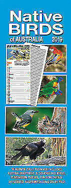 2019 Native Birds Of Australia Wall Calendar Daily Planner Free Postage