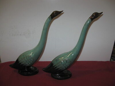 Blue Mountain Pottery Of Canada  -  Green Swans (Pair)
