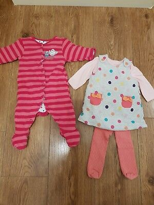 Baby Girls Pink Winter Clothes Bundle Mothercare 0-3 Months