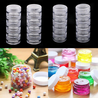4 Sets Clear Screw Top Jars Stacking Containers, Pills,Balm,Crafts,Cream,Gem