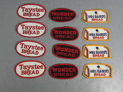 Lot of 12 New Old Stock Bread Company Patches