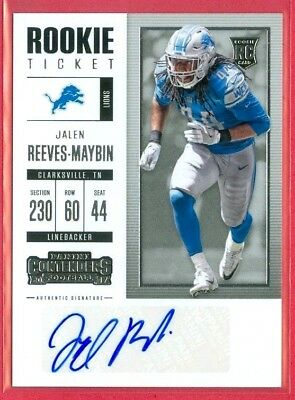 2017 CONTENDERS (FB) Jalen Reeves-Maybin SP AUTO ROOKIE/RC CHASE CARD #227 LIONS