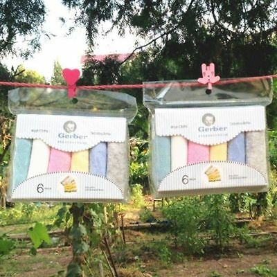 6pcs Cute Soft Infant Newborn Washcloth Feeding Wipe Cloth Baby Bath Towel
