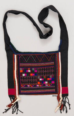 Small traditional men's shoulder bag, Akha, Myanmar, ca. 1950
