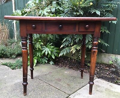 Antique Victorian Small Side Table / Desk