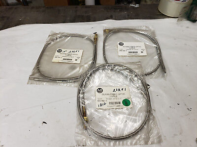 3-Piece Allen Bradley 99-52-1 Glass Fiber Optic Cable Ser. C   NEW IN BAGS