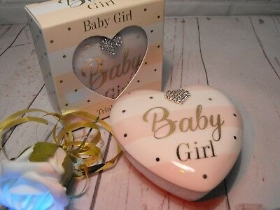 BABY GIRL GIFT A Gift For A New Baby Girl Heart Trinket Box New Moms Mums Gift
