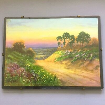 """Vintage 1920's Glazed Print """"When Glory Fills The West"""" J. Halford Ross"""
