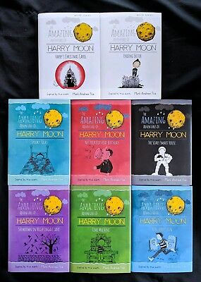 Lot Of 8 Mark Andrew Poe Books Amazing Harry Moon Run Time Scary Socks Carol NEW