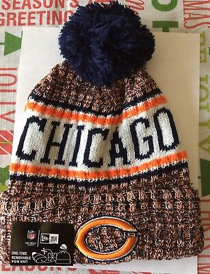 32d422a9b Chicago Bears 2018 Nfl New Era Official On Field Sideline Beanie Knit Hat  Nwt